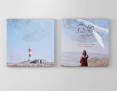 """Sound Visualization_Album """"52 Hertz"""" Package Redesign"""