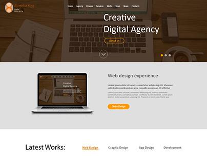 Web Interface Design for a Creative Digital Agency