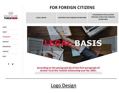 Expat Guide Turkey,Logo and WordPress Web Development.
