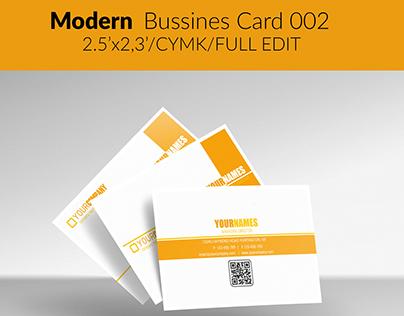Modern Bussines Card Template