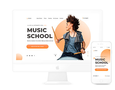 Design Concept. Music School Website