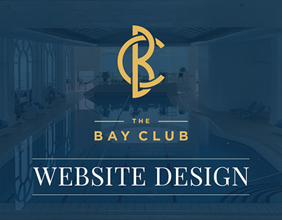 The Bay Club - Website Design in Adobe XD
