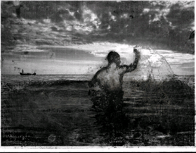 The Colossus and the Ocean (Homage to Goya)
