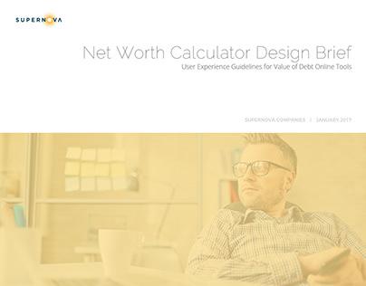 Wireframes - Net Worth Calculator