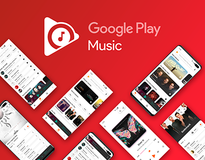 New Look for Google Play Music. UI/UX