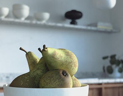 Warm minimal kitchen