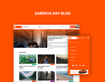 Garenta Day Blog - Web Design