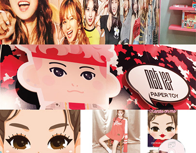 K-Pop Idols Collaboration Paper Toy