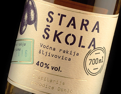 Stara Škola — Brandy Packaging