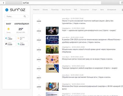 Website for news aggregator Surf.az