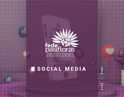 Social Media, Fedepasifloras 2018 - 2019