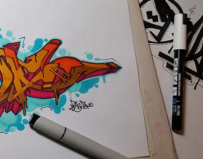 """Tada"" Graffiti Sketch"