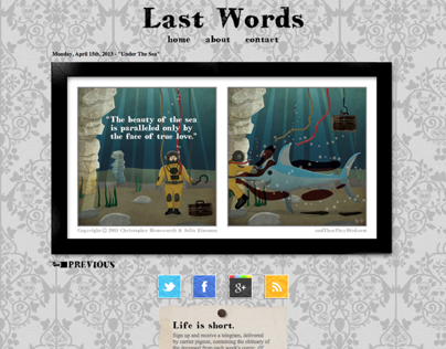Last Words Website