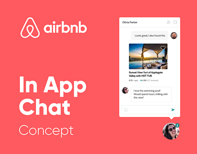 Airbnb In App Chat Concept