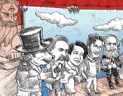 Illustration to Egoista magazine