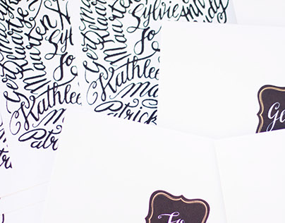 Handlettered / Silkscreened Card / Teambuilding