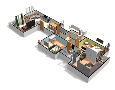 3D Small apartment