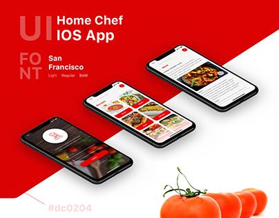 Home Chef IOS App UI Design