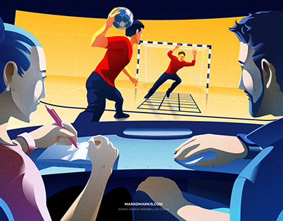 Vector Illustration : Handball Illustration