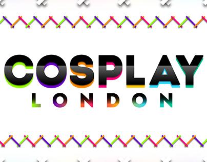 Cosplay London Stylish Logo Design (with background)