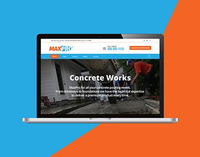 Maxpro +Landingpage + web