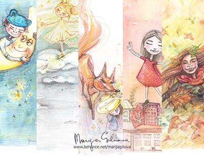 5x5 illustrations autumn