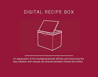 Digital Recipe Box
