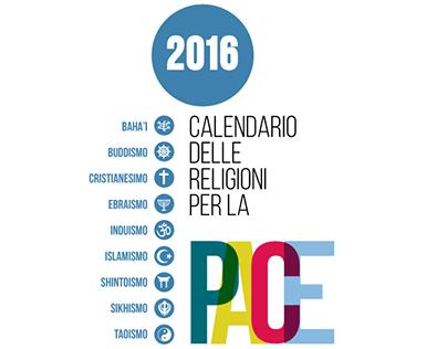 Calendario 2016 - Religioni unite per la Pace