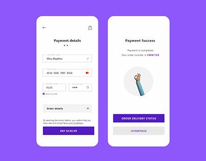 Payment UI - Light Mode / Dark Mode
