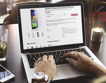 ZoRook - ecommerce website UI (2014)