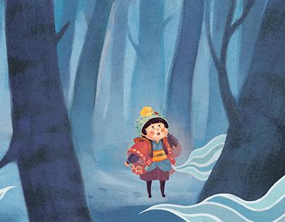 Kiko and mysterious adventures - Book illustration II