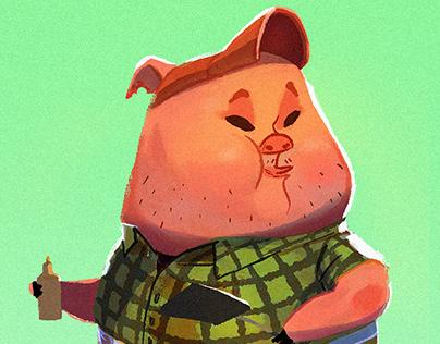 Three Little Pigs Food Trailer