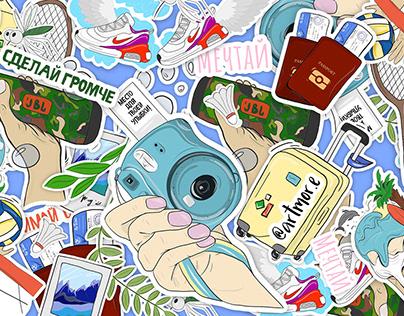 "Sticker pack ""Summer vibes"""