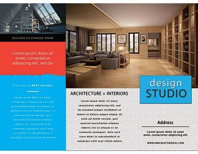 Minimal Trifold Business Brochure Leaflet PSD Template