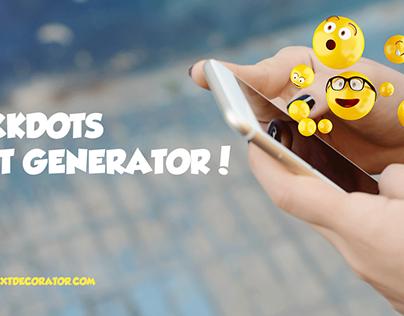 Rockdots Text Generator