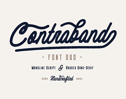 Contraband - Font Duo