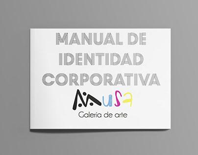 Manual de Identidad Corporativa Musa Galería de Arte