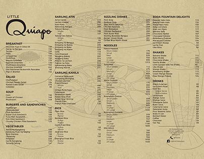 Little Quiapo Menu Design