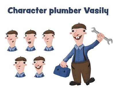 Character plumber Vasily