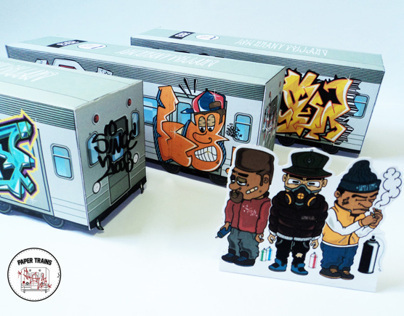 Paper Toys Trains • Old School Graffiti