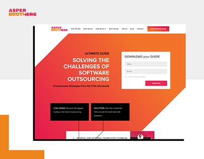 Software Outsourcing Guide - Landing page
