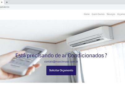 Site para empresa MaxClima - Climatização & Elétrica.