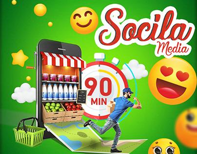 Social media ( go grocery App )