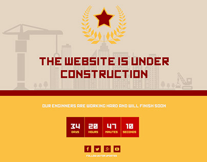 Soviet style Under Construction Page