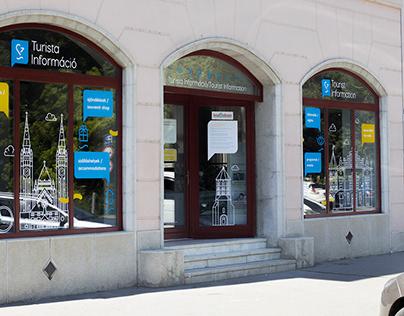 Tourinform office decoration design, Szeged