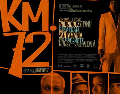 "Póster alternativo para largometraje ""Km. 72"" (2015)."