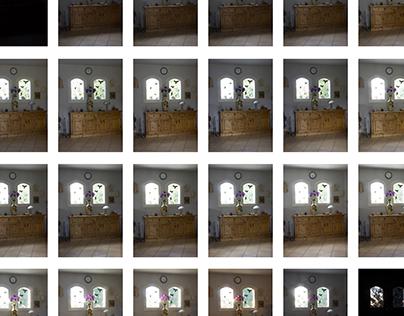 Evolution de la luminosité sur une journée