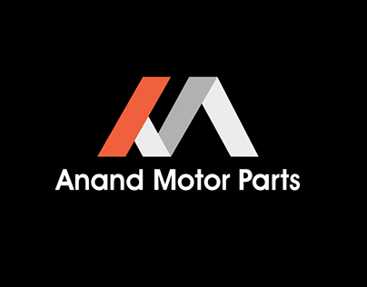 'Anand Motor Parts' Logo Design & Uses.