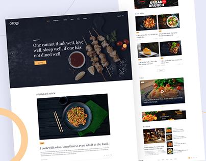 Ozagi - Food Blog Minimal Template