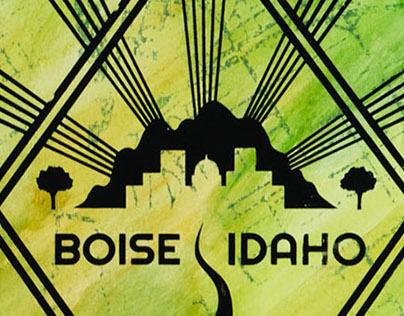 Boise, Idaho Logo Design (T-shirt, Poster, and Sticker)